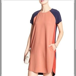 Banana Republic Block Color Shift Dress